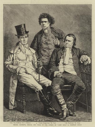 Messers Mathews, Phelps, and Toole in the Comedy of John Bull, a Portrait Group--Giclee Print