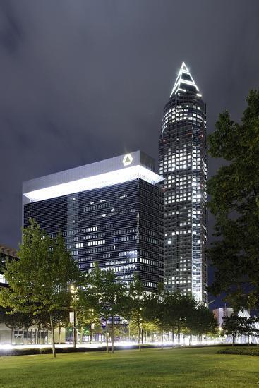 Messeturm, Messe Frankfurt, District Gallus, European District, Frankfurt on the Main-Axel Schmies-Photographic Print
