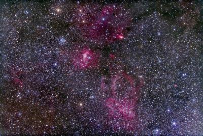 Messier 52 and the Bubble Nebula in Cassiopeia-Stocktrek Images-Photographic Print