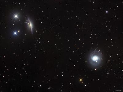 Messier 77 (NGC 1068), and NGC 1055 are Both Spiral Galaxies Located in the Constellation Cetus-Stocktrek Images-Photographic Print