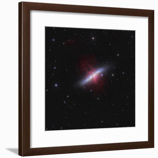 Messier 82, a Starburst Galaxy in the Constellation Ursa Major-Stocktrek Images-Framed Photographic Print