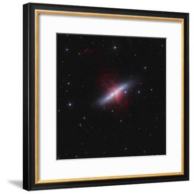 Messier 82, a Starburst Galaxy in the Constellation Ursa Major-Stocktrek Images-Framed Photographic Print