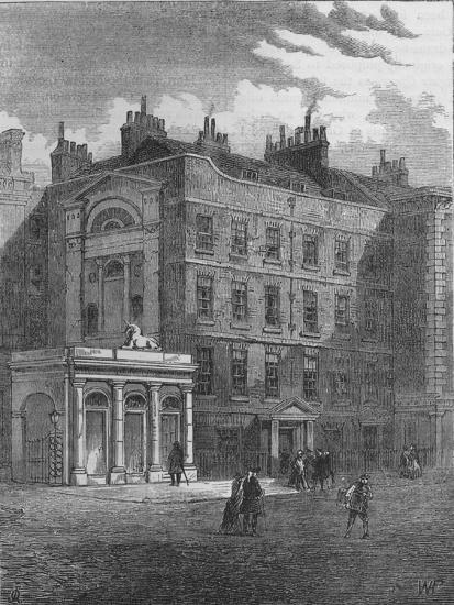 Messrs Christie and Manson's original auction rooms, Westminster, London, c1860 (1878)-Unknown-Giclee Print