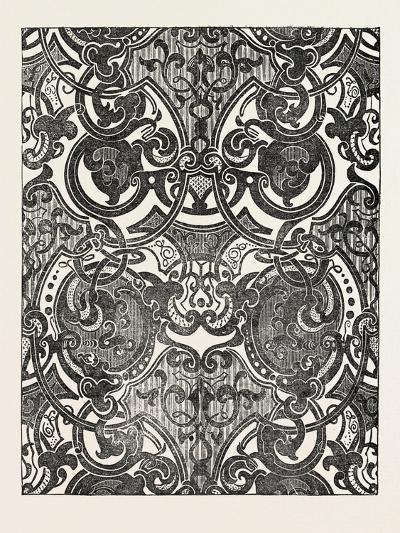 Messrs. Houldsworth and Co., Blue and Gold Damask, 1851--Giclee Print