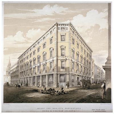 Messrs J&R Morley's Warehouses, Corner of Wood Street and Gresham Street, London, C1840-Martin & Hood-Giclee Print