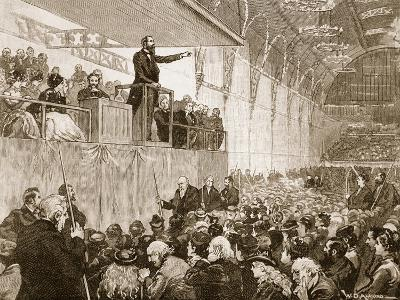 Messrs Moody and Sankey's Revivalist Meeting in the Agricultural Hall--Giclee Print