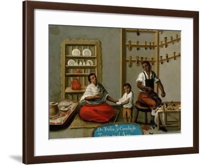 Mestizaje: 11. De Yndia y Cambujo. Tente en El Aire, 18th--Framed Giclee Print