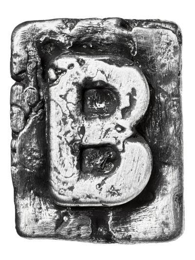 Metal Alloy Alphabet Letter B-donatas1205-Art Print