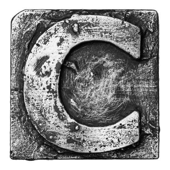 Metal Alloy Alphabet Letter C-donatas1205-Art Print