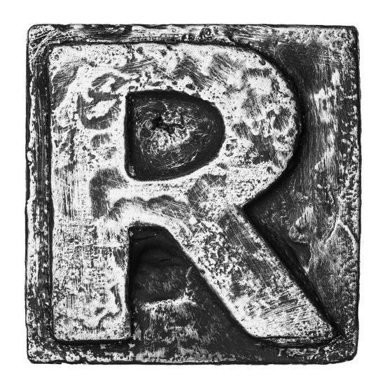 Metal Alloy Alphabet Letter R-donatas1205-Art Print