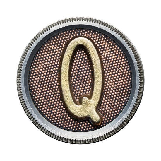 Metal Button Alphabet Letter-donatas1205-Art Print