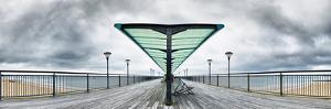 Metal structure of a pier, Boscombe Pier, Bournemouth, England