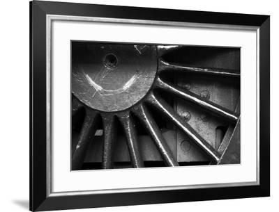 Metal Train Wheel-neillang-Framed Art Print