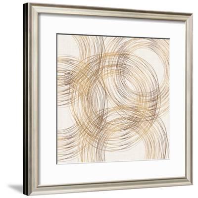 Metallic Circles-Modern Tropical-Framed Art Print