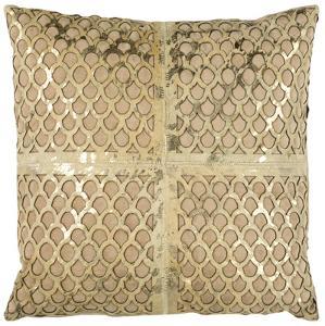 Metallic Fin Cowhide Pillow