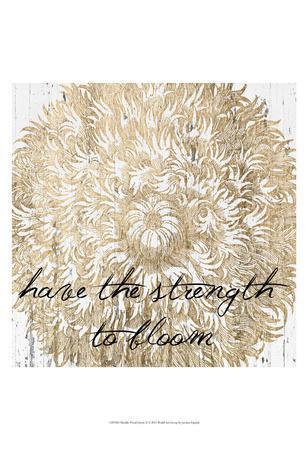 Metallic Floral Quote II-Jarman Fagalde-Art Print