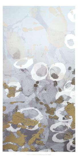 Metallic Foil Golden Droplets I-Jennifer Goldberger-Art Print