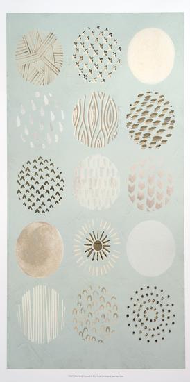 Metallic Foil Playful Patterns I-June Erica Vess-Art Print