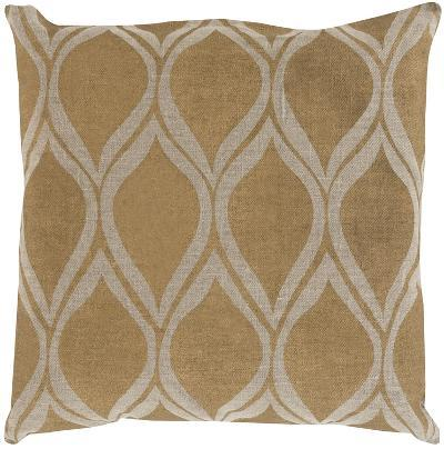 Metallic Leaves Poly Fill Pillow--Home Accessories