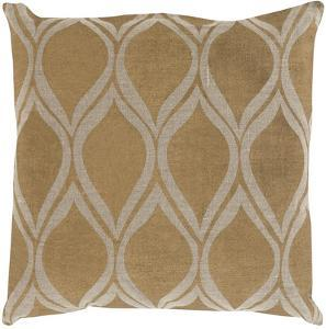 Metallic Leaves Poly Fill Pillow