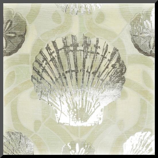 Metallic Shell Tiles I-June Erica Vess-Mounted Print