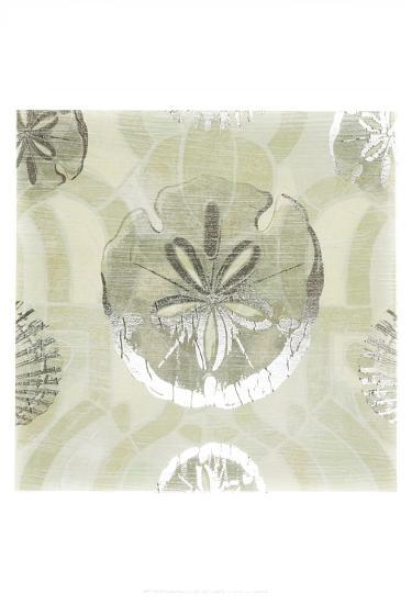 Metallic Shell Tiles II-June Erica Vess-Art Print