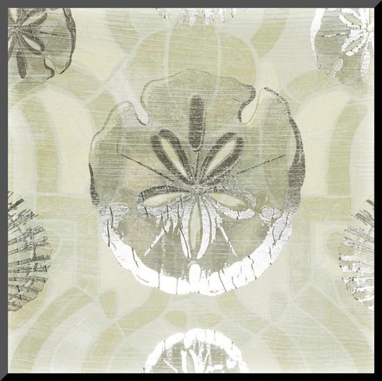 Metallic Shell Tiles II-June Erica Vess-Mounted Print