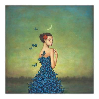 Metamorphosis in Blue-Duy Huynh-Art Print