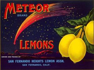 Meteor Lemon Crate Label