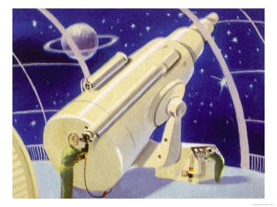 Meteorological Station in Space--Giclee Print