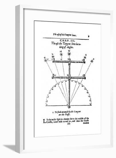 Method of Measuring Angles with a Cross-Staff, 1636--Framed Giclee Print