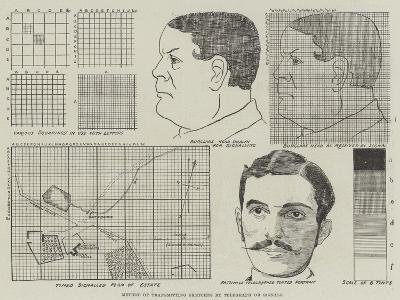 Method of Transmitting Sketches by Telegraph or Signals--Giclee Print