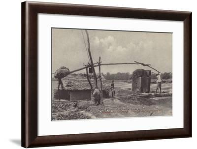 Methods of Irrigation, Drawing Water from Well--Framed Photographic Print