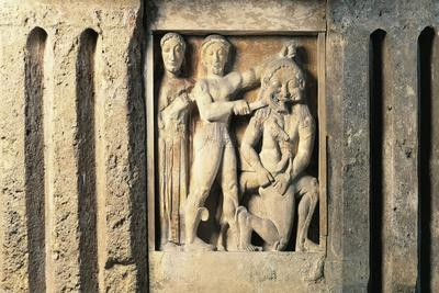 Metope Depicting Perseus Slaying Medusa, from Selinunte, Sicily, Italy--Giclee Print