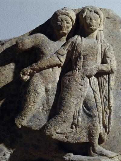 Metope with Relief Depicting Dancing Scene, from Selinunte, Sicily, Italy--Giclee Print