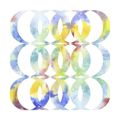 Metric Watercolors I-Jennifer Goldberger-Art Print