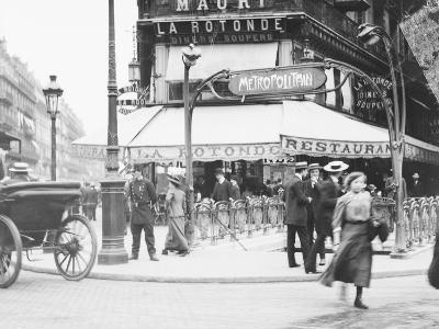 Metro Entrance and Restaurant--Photographic Print