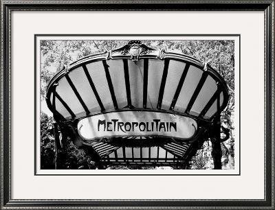 Metro Entrance, Paris-Heiko Lanio-Framed Giclee Print