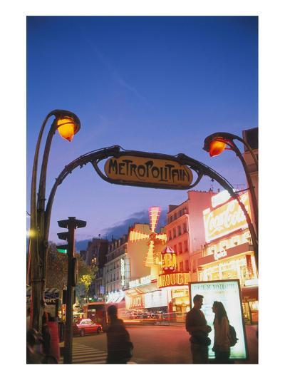 Metro Moulin Rouge Paris--Art Print
