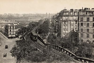 Metro on Boulevard De Grenelle, Paris, 1910--Photographic Print