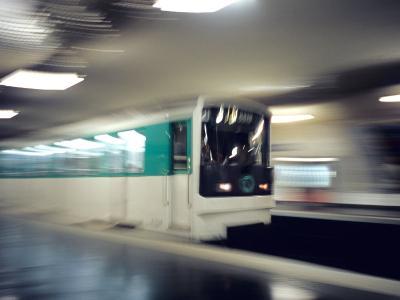 Metro, Paris, France-David Barnes-Photographic Print