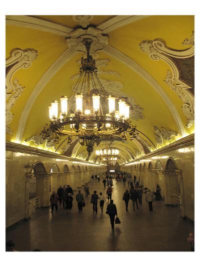 Metro Station Komsomolskaja, Moscow, Russia--Art Print