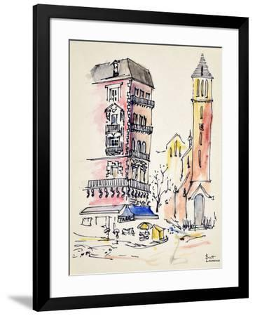 Metro Stop Alesia in Paris, France is on the left bank. Alesia was the center of my universe in Par-Richard Lawrence-Framed Photographic Print