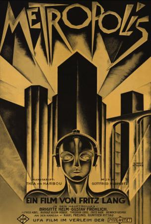 Metropolis, German Movie Poster, 1926