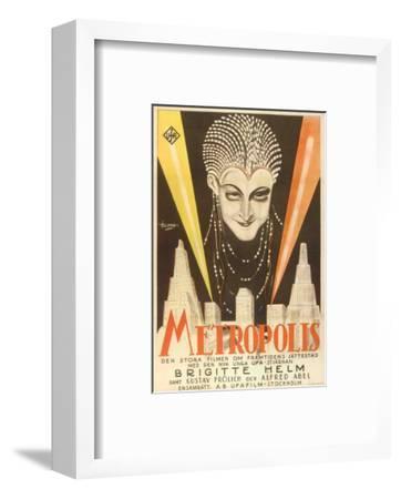 Metropolis, Swedish Movie Poster, 1926