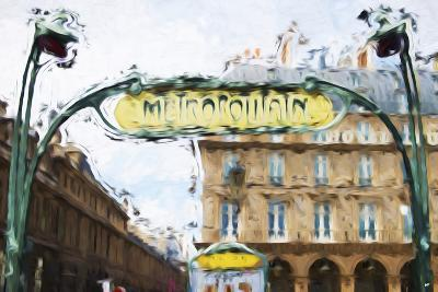Metropolitain - In the Style of Oil Painting-Philippe Hugonnard-Giclee Print