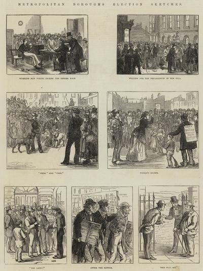Metropolitan Boroughs Election Sketches--Giclee Print