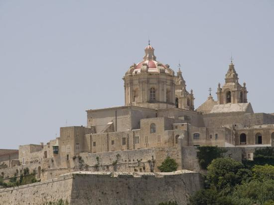 Metropolitan Cathedral in Mdina, the Fortress City, Malta, Europe-Robert Harding-Photographic Print