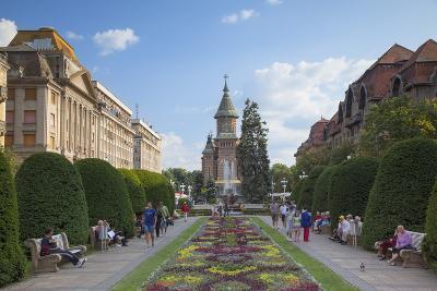 Metropolitan Cathedral in Piata Victoriei, Timisoara, Banat, Romania, Europe-Ian Trower-Photographic Print
