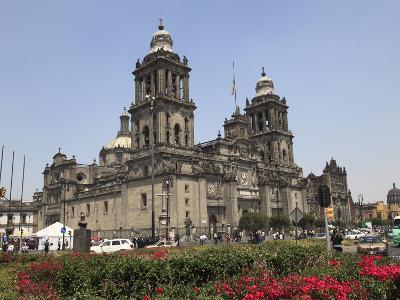 Metropolitan Cathedral, the Largest Church in Latin America, Zocalo, Plaza De La Constitucion, Mexi-Wendy Connett-Photographic Print